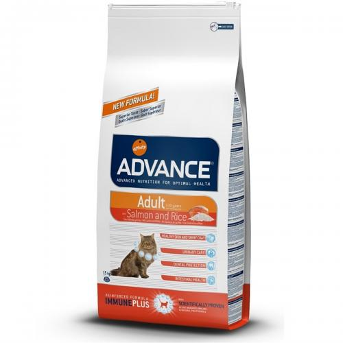Advance Cat Adult Sensitive Somon Kedi Maması 15 Kg
