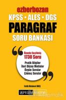 2019 KPSS ALES DGS Ezberbozan Paragraf Soru Bankası