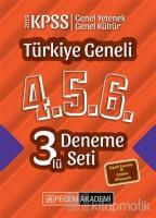 2019 KPSS Türkiye Geneli 4-5-6 3'lü Deneme Seti