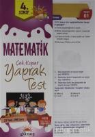 4. Sınıf Matematik Çek Kopar Yaprak Test