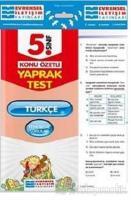 5. Sınıf Türkçe Konu Özetli Yaprak Test