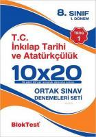 8. Sınıf 10x20 T.C İnkılap Tarihi ve Atatürkçülük Ortak Sınav Denemeleri Seti (1.Dönem - TEOG 1)
