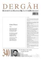 Dergah Edebiyat Kültür Sanat Dergisi Sayı: 340 Haziran 2018