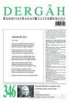 Dergah Edebiyat Sanat Kültür Dergisi Sayı: 346 Aralık 2018