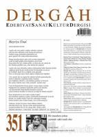 Dergah Edebiyat Sanat Kültür Dergisi Sayı: 351 Mayıs 2019