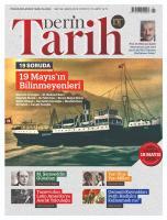 Derin Tarih Dergisi Sayı:86 Mayıs 2019