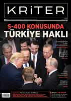 Kriter Dergisi Sayı:37 Temmuz - Ağustos  2019