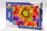 Krizantemler (500 Parça) -  Ahşap Puzzle Bahçe Çiçek Serisi - (BC04-D)