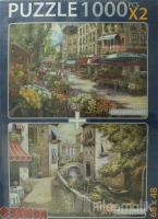 Pontedi Venezia / Paris Flower Market Puzzle (2 X 1000 Parça)