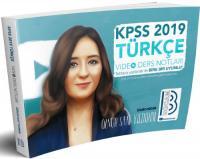 2019 KPSS Türkçe Video Ders Notları