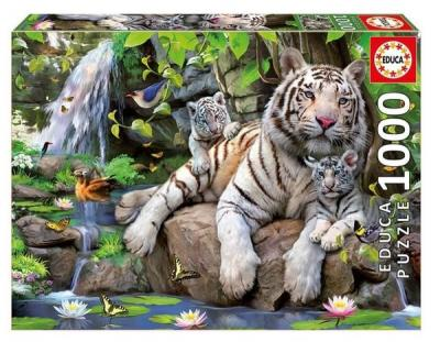 Educa Puzzle BENGAL WHITE TIGERS 14808 1000 lik Kolektif