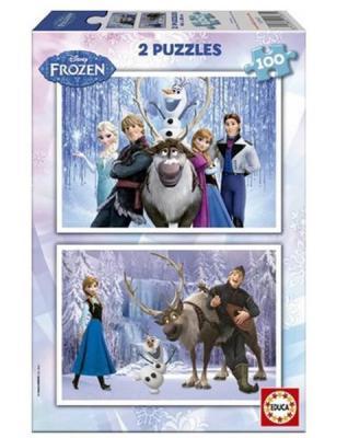 Educa Puzzle Frozen 15767 2x100 Karton Kolektif