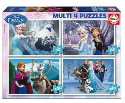 Educa Puzzle Çocuk Frozen 16173 Multi 4 In 1