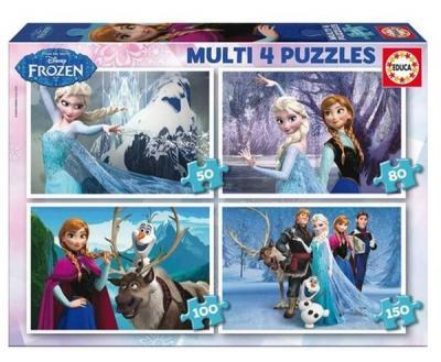 Educa Puzzle Çocuk Frozen 16173 Multi 4 In 1 Kolektif