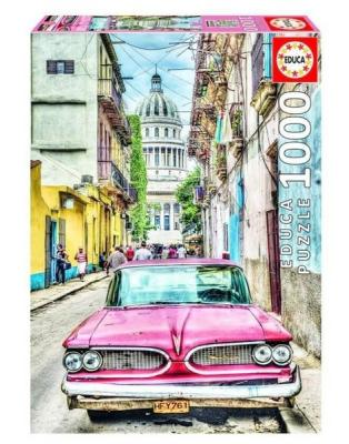 Educa Puzzle Vintage Car in Old Havana 1000 Parça 16754 Kolektif