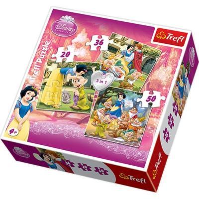 Trefl Puzzle 3 in 1 Snow White/Disney SW 34038 Kolektif-Trefl