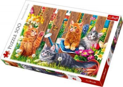 Trefl-Puz.500 Kittens in the Garden 48x34cm 37326 Kolektif-Trefl