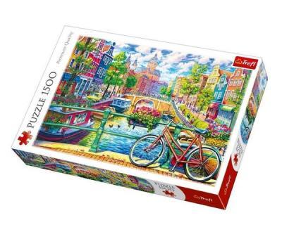 Trefl Puzzle 1500 Amsterdam Canal 85x58 (26149) Kolektif-Trefl