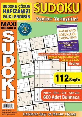 Maxi Bulmaca Sudoku - Mayıs/Haziran/Temmuz 2021