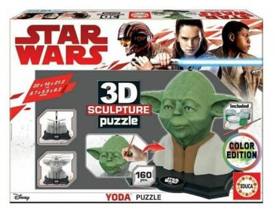 Educa Puzzle YodaColor 3D Sculpture Fsc Kolektif-Educa