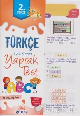 2. Sınıf Türkçe Çek Kopar Yaprak Test