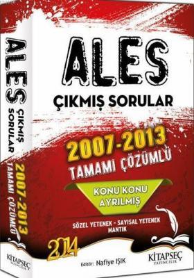 2014 ALES Konu Konu Ayrılmış 2007- 2013 Tamamı Çözümlü Çıkmış Sorular