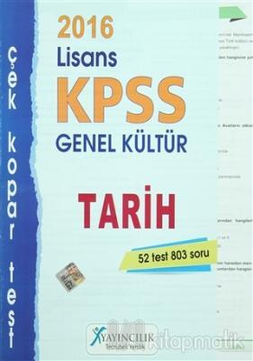 2016 KPSS Lisans Genel Kültür Tarih Çek Kopar Test