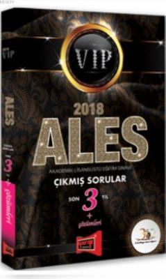 2018 ALES VIP Son 3 Yıl Çıkmış Sorular ve Çözümleri