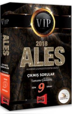 2018 ALES VIP Son 9 Sınav Tamamı Çözümlü Çıkmış Sorular