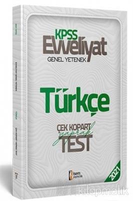 2021 Evveliyat KPSS Türkçe Çek Kopart Yaprak Test Kolektif