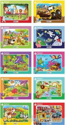 30 Parça Puzzle (10 Çeşit) - Frame Puzzle