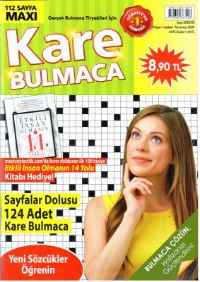 Kare Bulmaca Dergisi Sayı:2020/02 Mayıs - Haziran - Temmuz