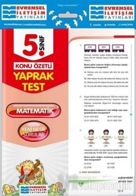 5. Sınıf Matematik Konu Özetli Yaprak Test