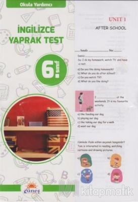 6.Sınıf Okula Yardımcı İngilizce Yaprak Test