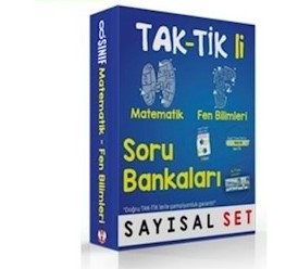 8. Sınıf Tak-Tik'li Sayısal Set Soru Bankaları