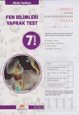 7.Sınıf Okula Yardımcı Fen Bilimleri Yaprak Test