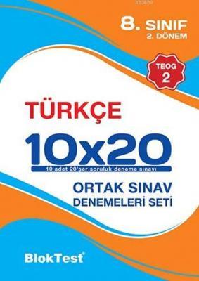 8. Sınıf 10x20 Türkçe Ortak Sınav Denemeleri Seti (2.Dönem - TEOG 2)