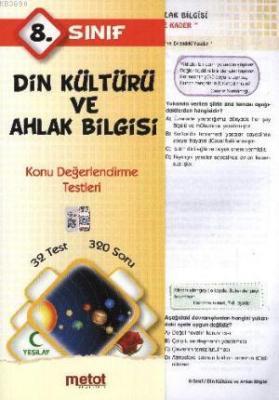 8. Sınıf Din Kültürü ve Ahlak Bilgisi Konu Değerlendirme Testleri