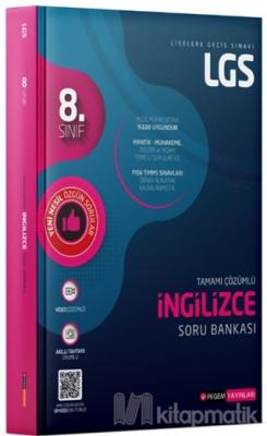 8. Sınıf LGS Tamamı Çözümlü İngilizce Soru Bankası Kolektif