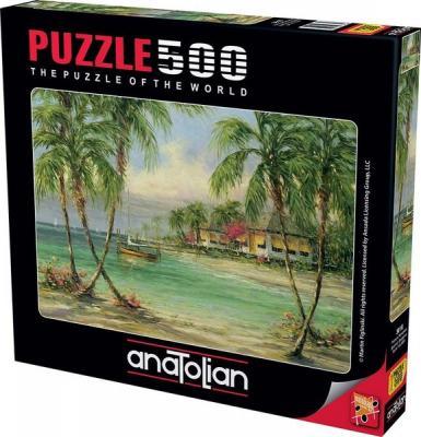 Puzzle 500 Palmiye Manzarası Barefoot Bungalow
