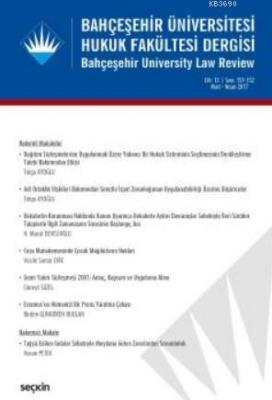 Bahçeşehir Üniversitesi Hukuk Fakültesi Dergisi