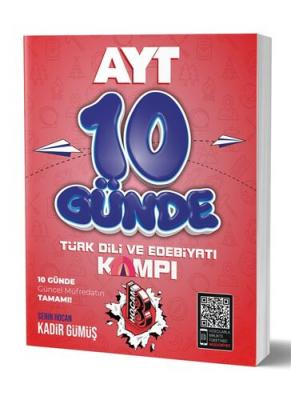 10 Günde AYT Türkdili ve Edebiyatı Kamp Defteri Kadir Gümüş