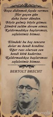 Bertolt Brecht Poster