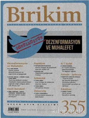 Birikim Aylık Edebiyat Kültür Dergisi Sayı: 355