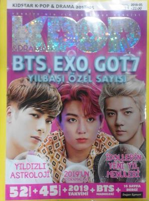 Kidstar K-Pop & Drama Türkiye'nin İlk Kore-Pop Dergisi Bts, Exo, Got7 Yılbaşı Özel Sayısı 2018-05