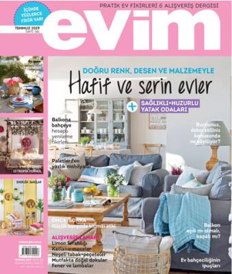 Evim Pratik Ev Fikirleri & Alışveriş Dergisi Sayı: 161 Temmuz  2019