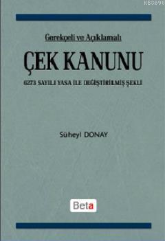 Çek Kanunu (6273 Sayılı Yasa İle Değiştirilmiş Şekli)
