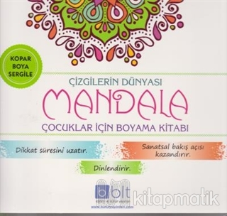 Çizgilerin Dünyası - Mandala Çocuklar İçin Boyama Kitabı Kolektif