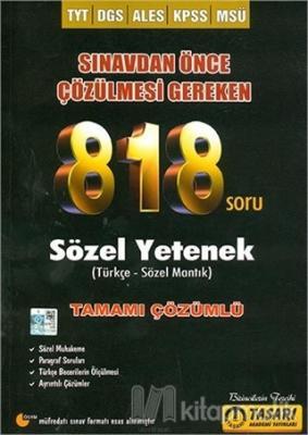 DGS TYT Ales 818 Sözel Soru Bankası