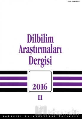 Dilbilim Araştırmaları Dergisi 2016 - 2